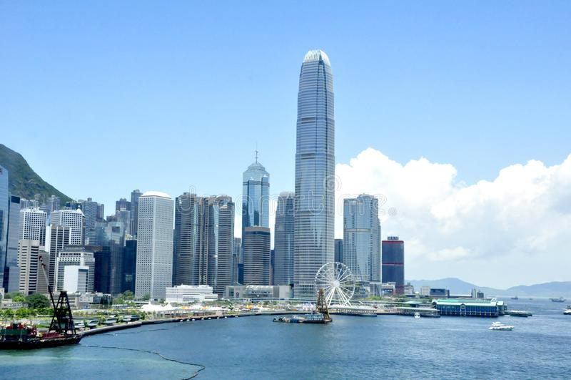 горизонт Hong Kong стоковые изображения rf