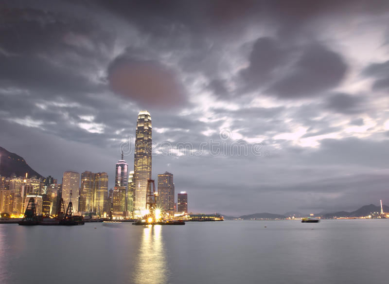 горизонт Hong Kong стоковая фотография rf