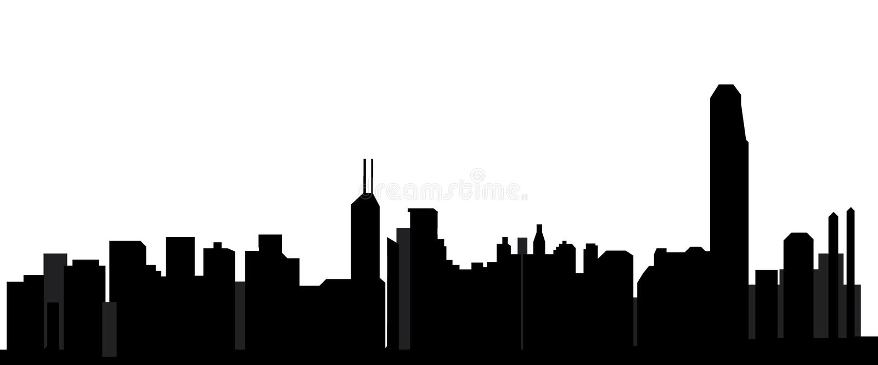 горизонт Hong Kong иллюстрация штока