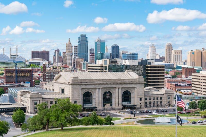 Горизонт Kansas City Миссури стоковое изображение rf