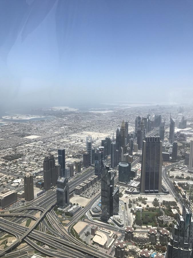 Горизонт Khalifa burj Дубай стоковые фото