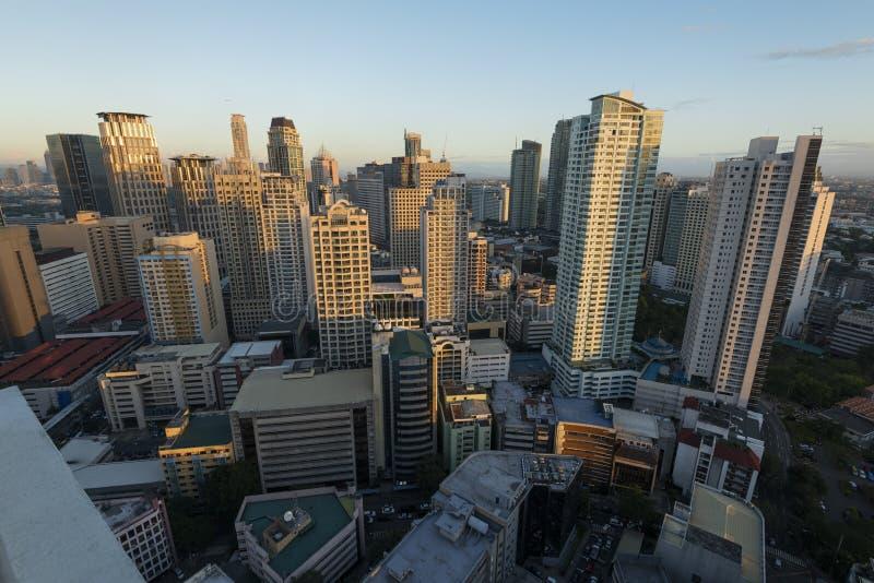 Горизонт Makati в Маниле - Филиппинах стоковые изображения