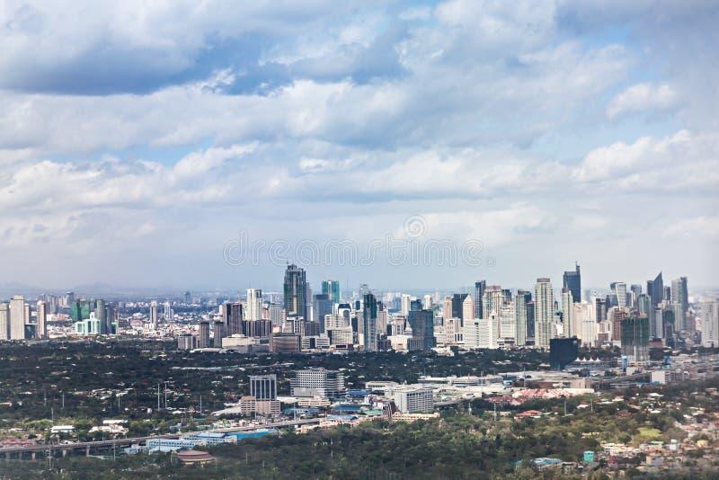 Горизонт Makati стоковое изображение rf