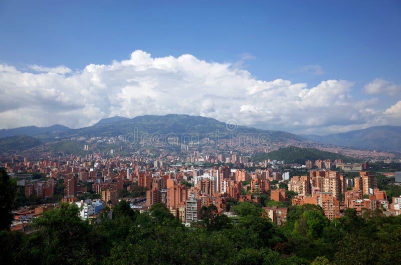 Горизонт Medellin стоковое изображение