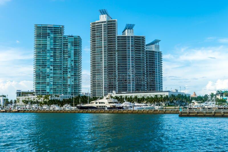 Горизонт Miami Beach стоковое изображение