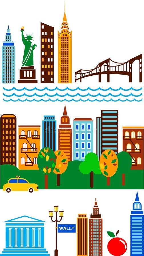 Горизонт New York бесплатная иллюстрация