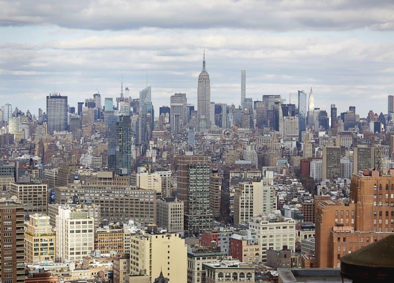 Горизонт NYC с Имперским штатом Building_01 стоковые изображения