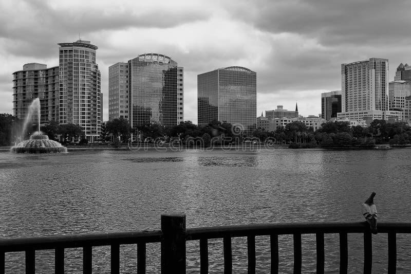 горизонт orlando озера eola стоковое фото rf