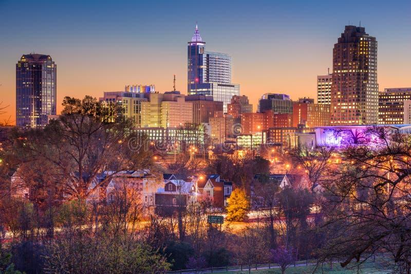 Горизонт Raleigh стоковые изображения rf
