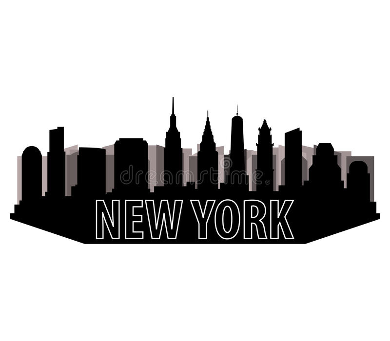 Download Горизонт ` s Нью-Йорка иллюстрация штока. иллюстрации насчитывающей york - 81805063