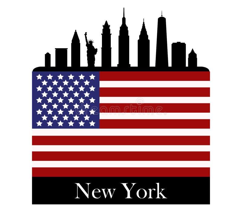 Download Горизонт ` s Нью-Йорка иллюстрация штока. иллюстрации насчитывающей ново - 81805197