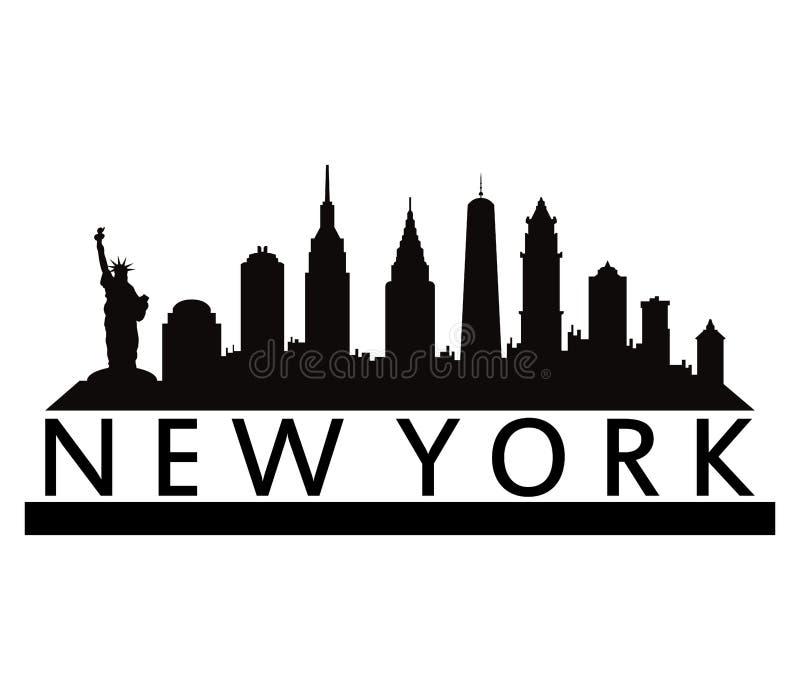 Download Горизонт ` s Нью-Йорка иллюстрация штока. иллюстрации насчитывающей зодчества - 81805223