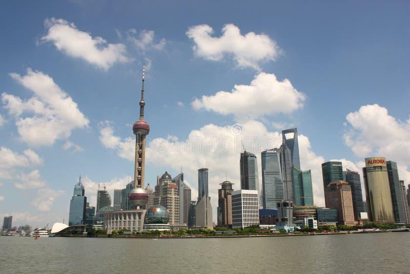 горизонт shanghai стоковое фото
