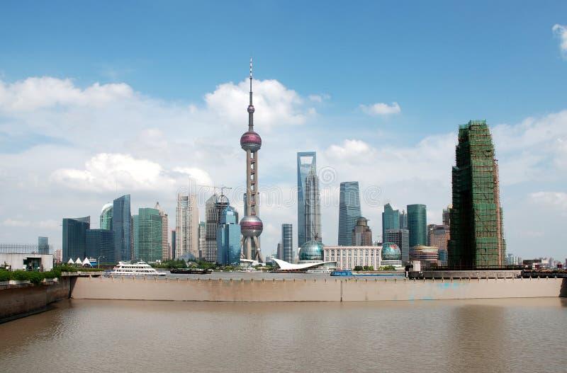 горизонт shanghai стоковая фотография rf