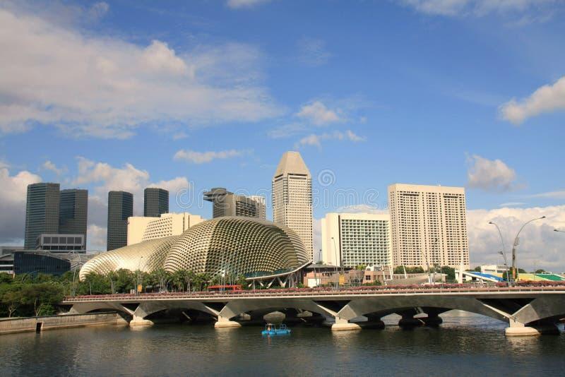 горизонт singapore города стоковые фотографии rf