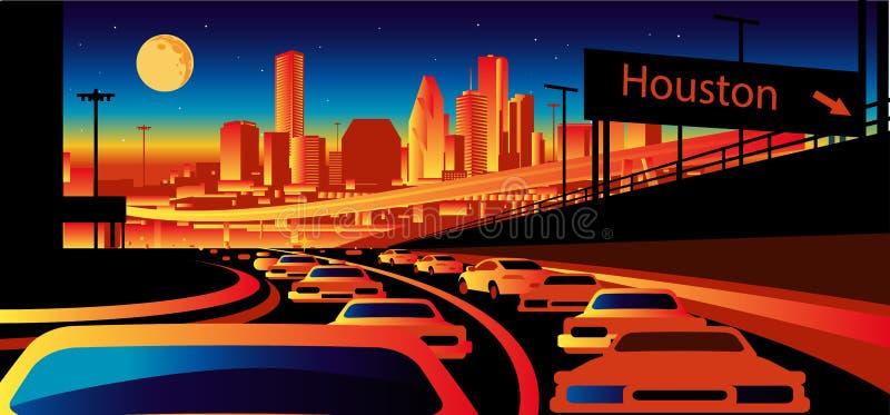 горизонт texas houston иллюстрация вектора