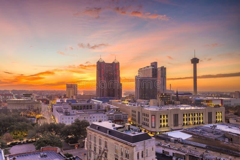 горизонт texas san antonio стоковое изображение