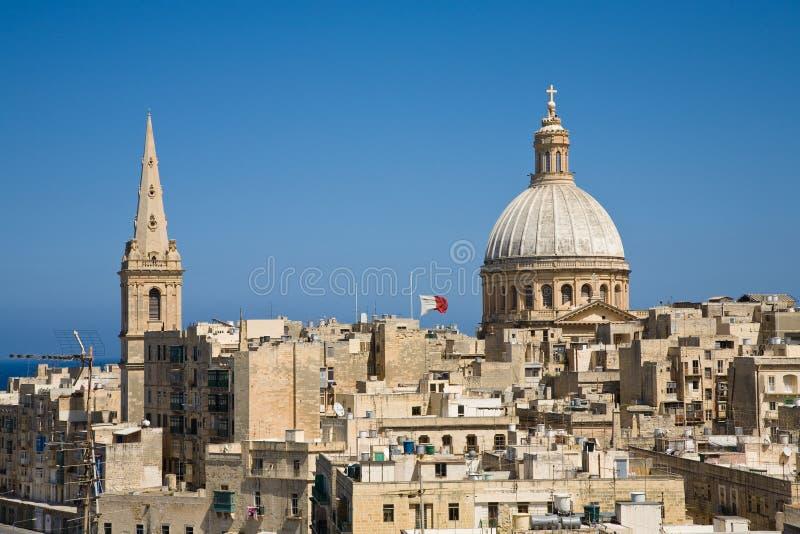 горизонт valletta malta стоковые фотографии rf