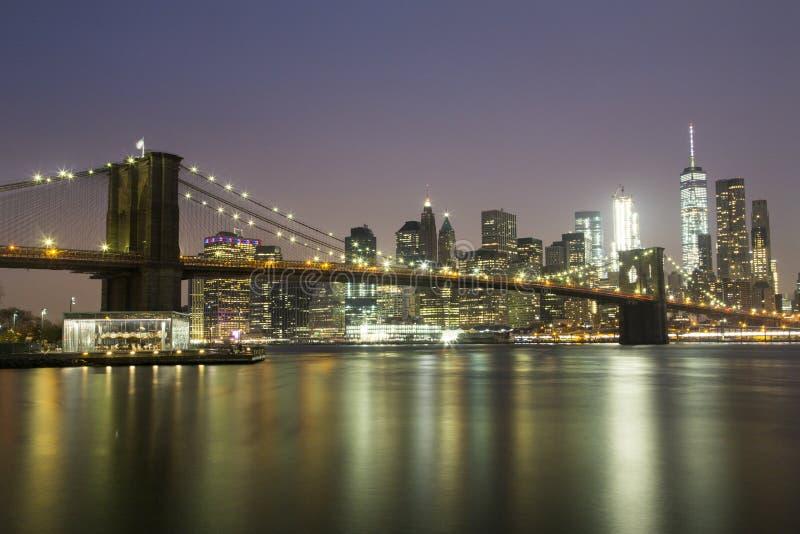 горизонт york brooklyn моста новый стоковое изображение rf