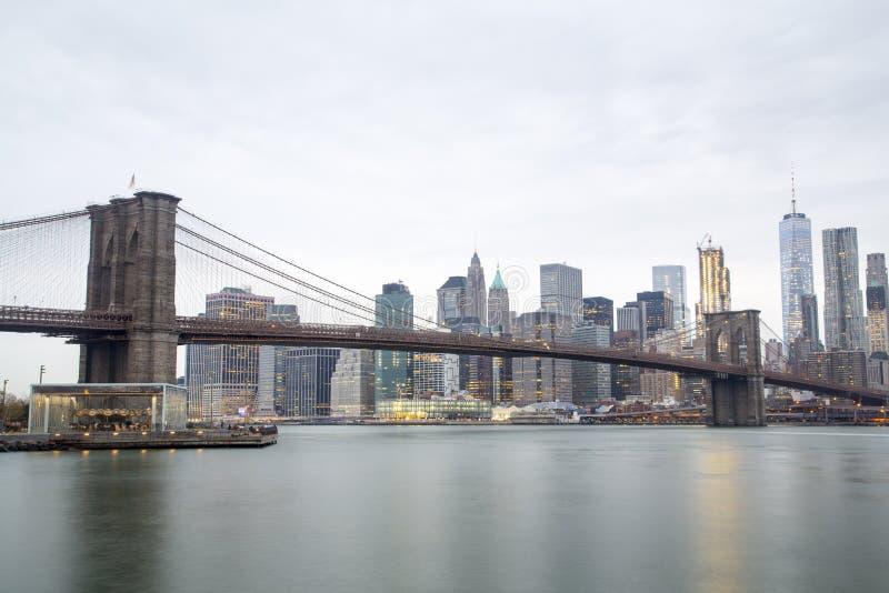 горизонт york brooklyn моста новый стоковое фото rf