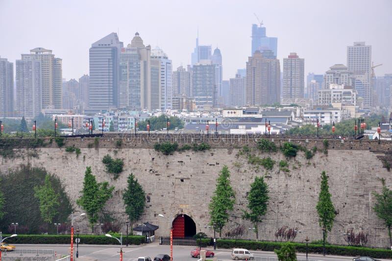 горизонт zhonghua nanjing строба города стоковое изображение rf