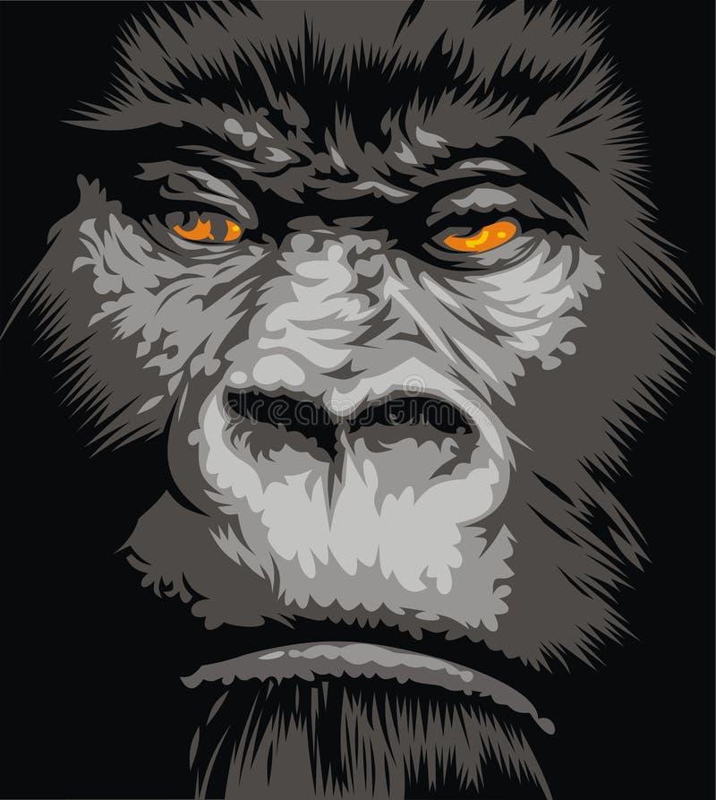 горилла стороны бесплатная иллюстрация