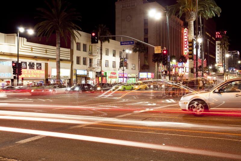 гористая местность hollywood бульвара стоковое изображение rf