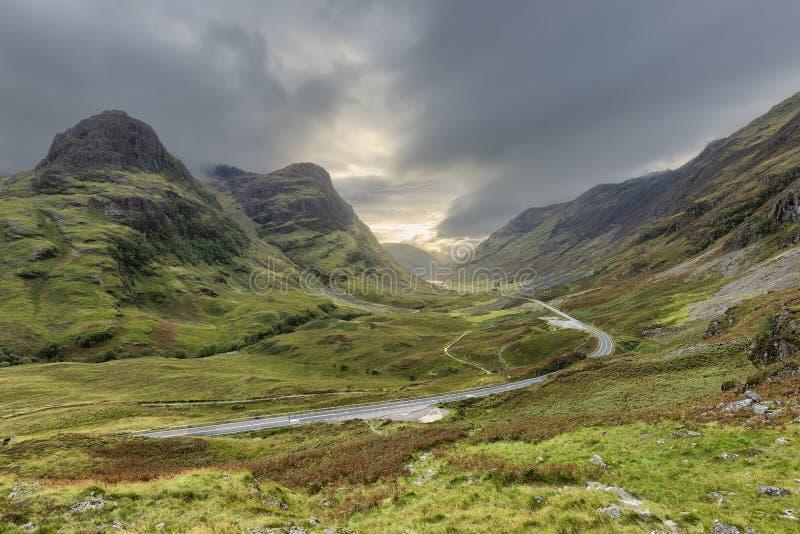 Гористые местности Шотландии стоковое изображение