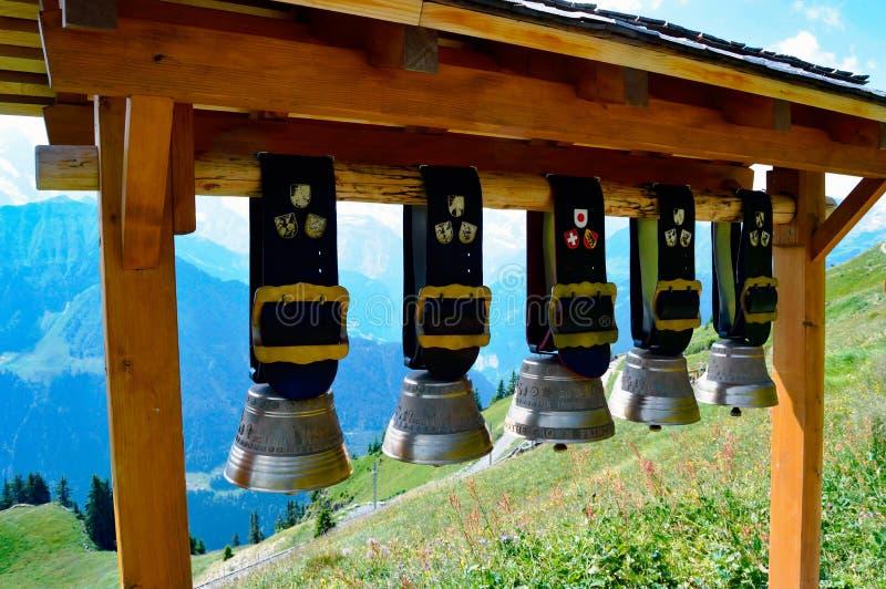 Горная вершина Швейцария Cowbell стоковое фото
