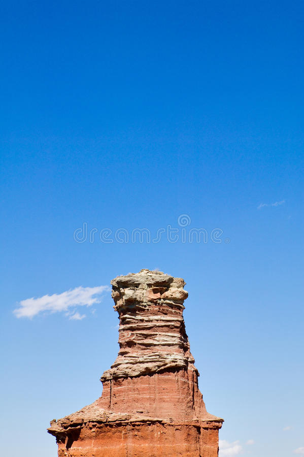 Горная порода маяка в каньоне Duro Palo, США стоковые изображения rf