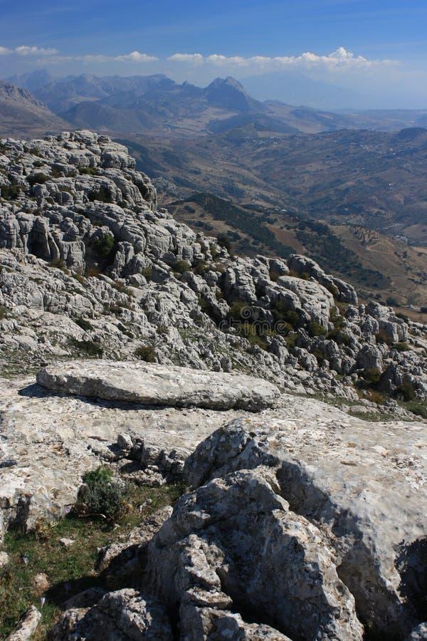 Горная порода на El Torcal de Antequera стоковая фотография