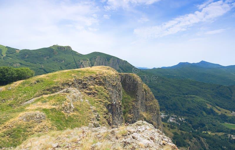 Горная цепь Лигурии, d& x27 Val; Взгляд Aveto - d& x27 Santo Stefano; Aveto - Groppo Rosso стоковые фото