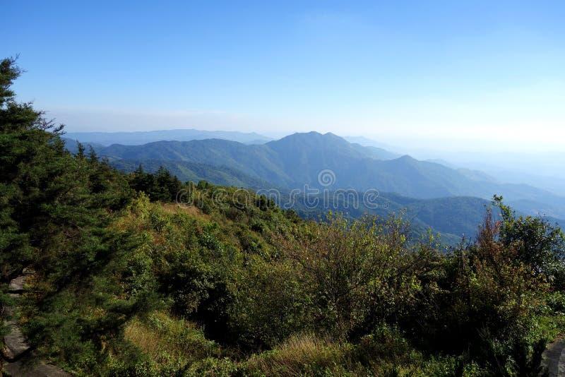 Горная цепь национального парка Doi Inthanon стоковое изображение