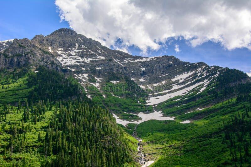 Горная цепь национального парка ледника, Монтаны стоковое фото