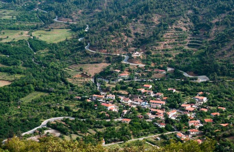 горное село Кипра стоковые изображения rf