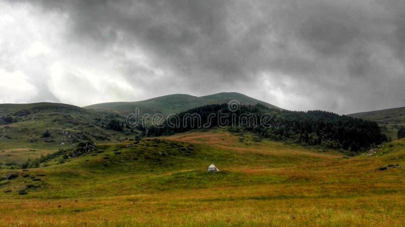 Горное село стоковое фото rf