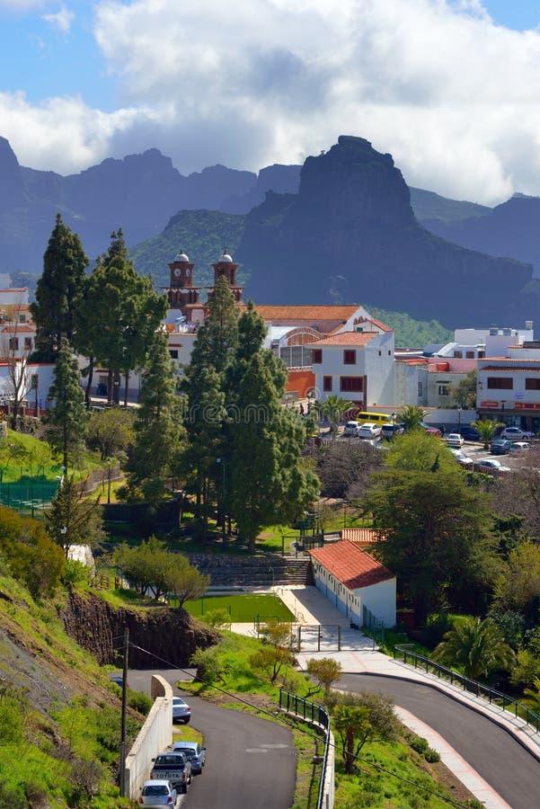 Горное село Artenara стоковые фото