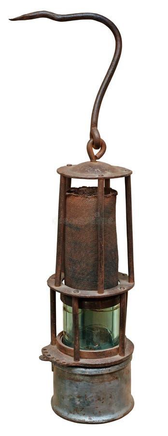 горнорабочая светильника старая стоковые изображения rf