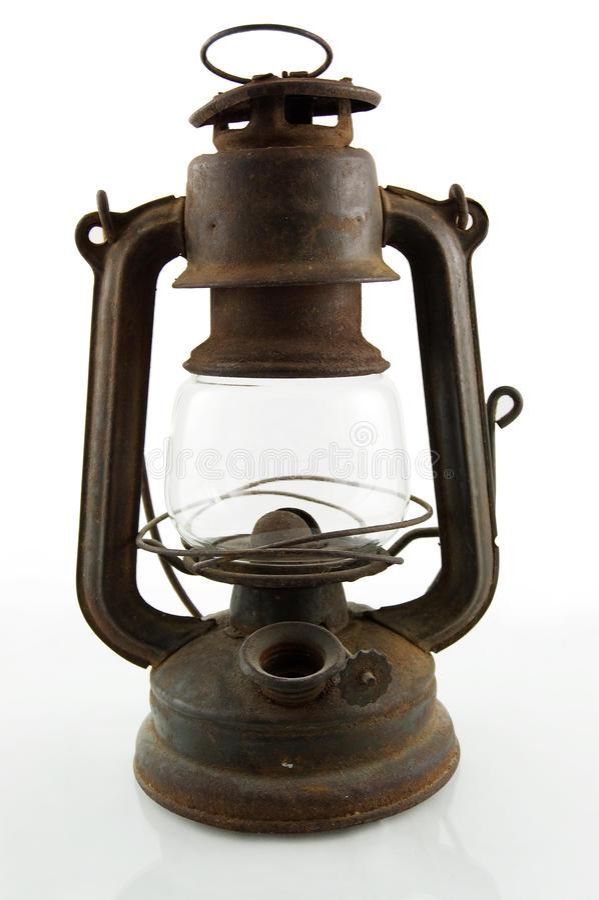 горнорабочая светильника старая стоковые фотографии rf