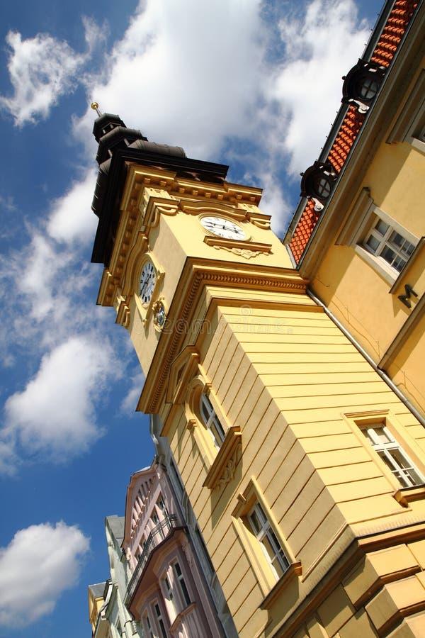 горнорабочая старый ostrava здание муниципалитет стоковая фотография rf