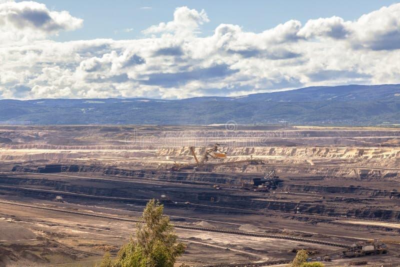 Горнодобывающая промышленность, ландшафт после минировать стоковое изображение