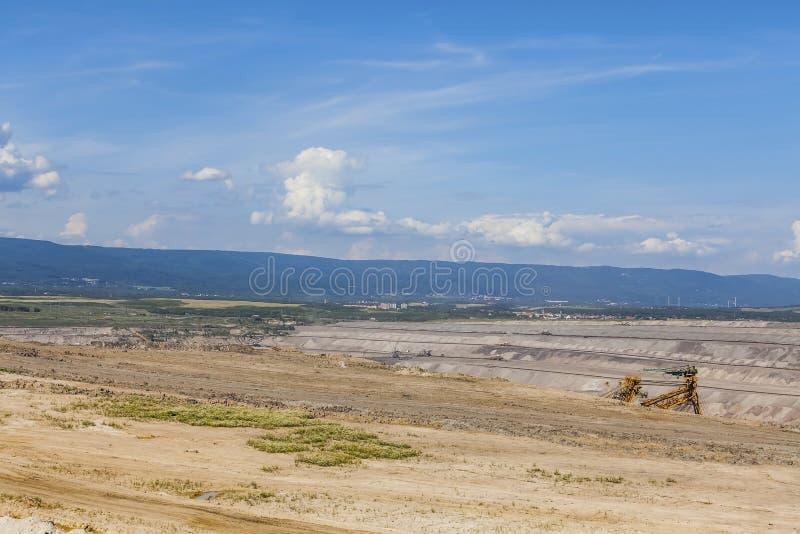 Горнодобывающая промышленность, ландшафт после минировать стоковая фотография