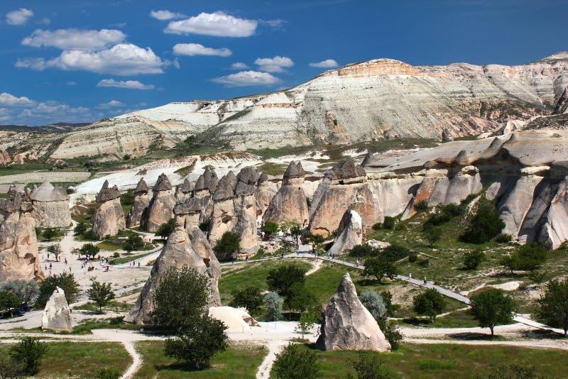 Горные породы около старого города пещеры Zelve в Cappadocia, Турции стоковые изображения rf