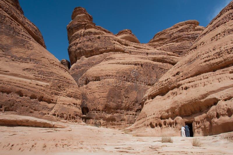 Горные породы в Madaîn Saleh, Саудовской Аравии стоковое фото rf