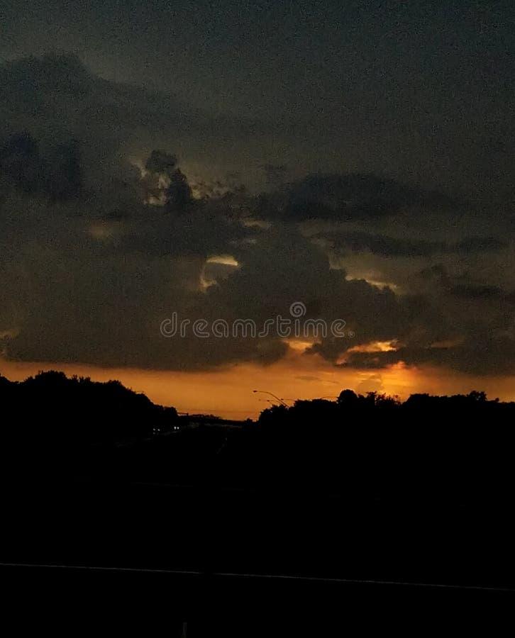 Горные склоны захода солнца стоковые изображения