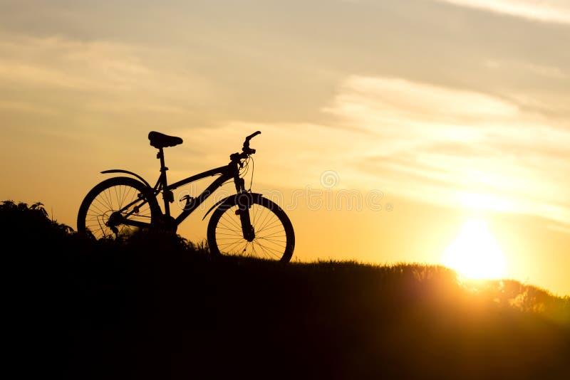 Горный велосипед на горном склоне стоковое изображение rf