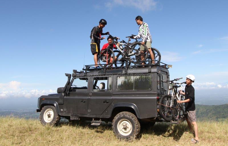Горный велосипед стоковая фотография rf
