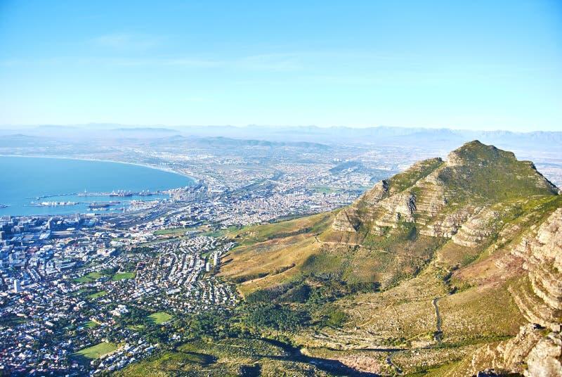 Горный вид Кейптаун Южная Африка таблицы стоковое изображение