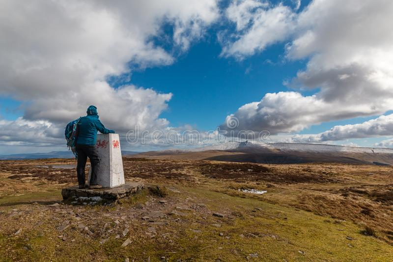 Горный вид Brecon светит национальный парк стоковая фотография