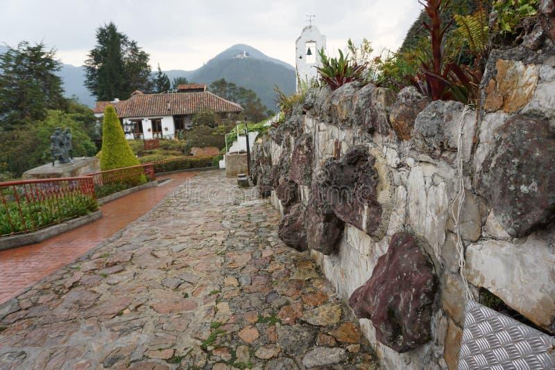 Горный вид на Monserrate, Колумбии стоковые фотографии rf